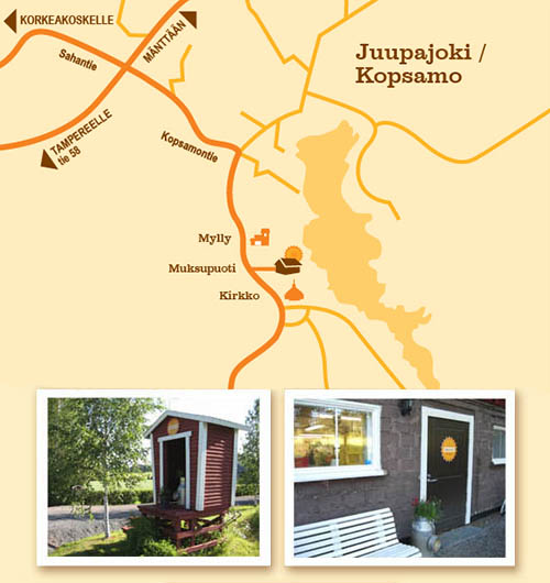 Kartta Kauppakeskus Mylly