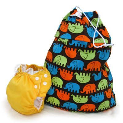 Nappy Storage bag print, medium