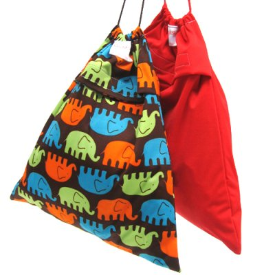 Nappy storage bag print, small