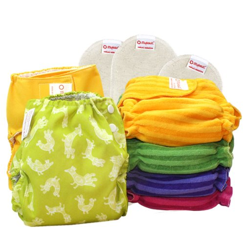 Fitted insert diaper set