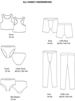 Pattern: Underwear for the whole family