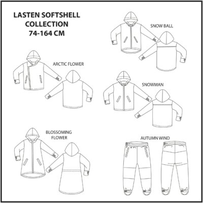 Schnittmuster: Kinder Softshell collection