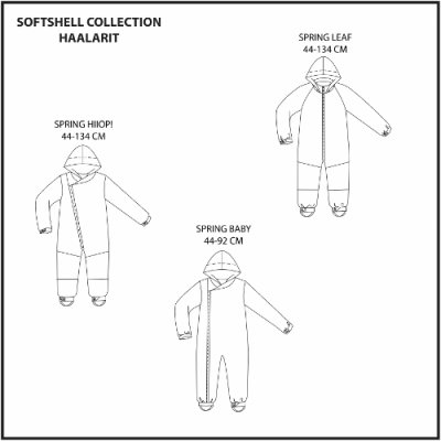 Schnittmuster: Kinder Softshell collection Overalls