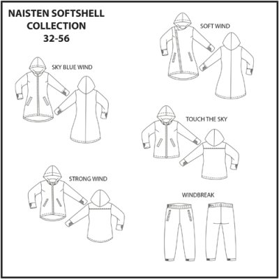 Schnittmuster: Frauen Softshell collection