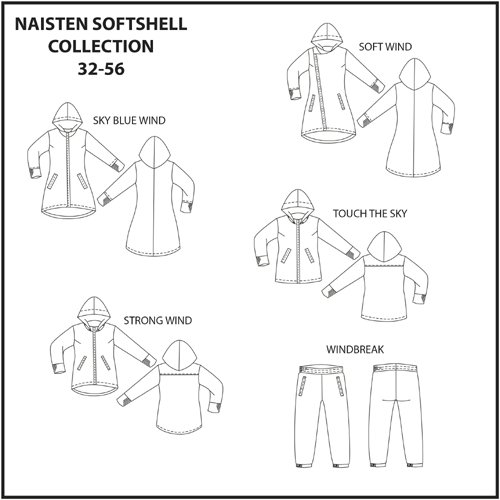 Pattern: Women\'s Softshell collection