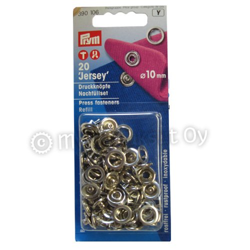 Press fasteners, refill packet 20 snaps